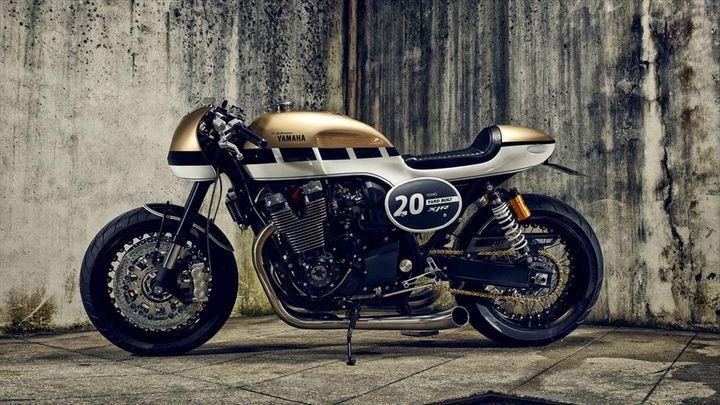 Hình ảnh cực chất của Yamaha XJR1300 hầm hố với phong cách Cafe Racer