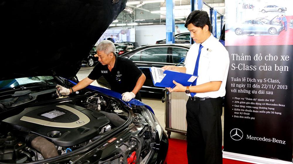 Dịch vụ VIP dành cho khách hàng sở hữu Mercedes