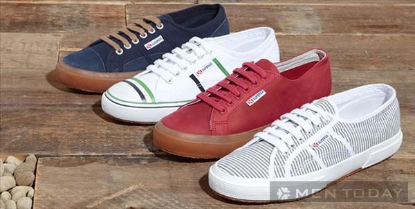 Giày sneakers nam từ Oliver Spencer x Superga chuẩn cao cấp