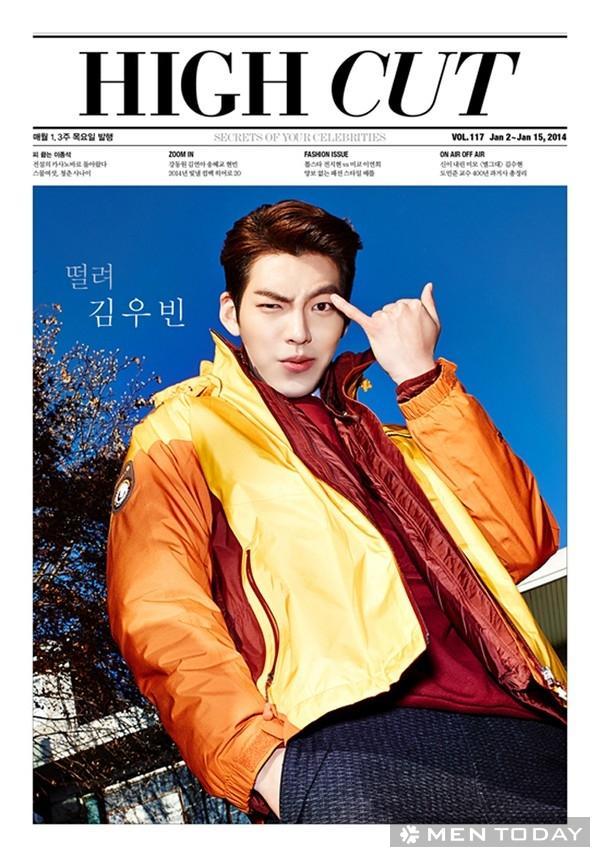 Nam diễn viên Kim Woo Bin trẻ trung và cá tính trên tạp chí High Cut
