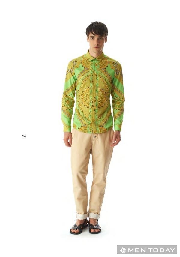 Phong cách thời trang nam xuân/hè của Versace cá tính