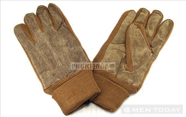 Phụ kiện găng tay nam da lộn pha len độc đáo