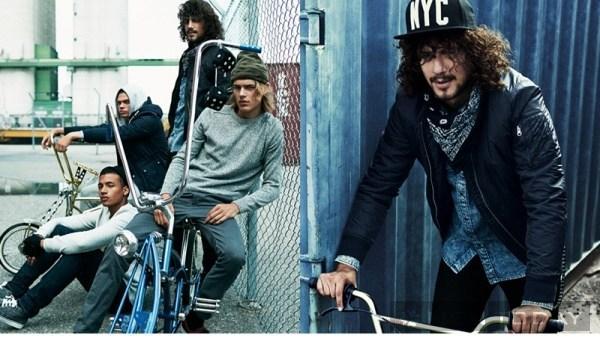 Thời trang đậm chất đường phố của H&M pided Blue
