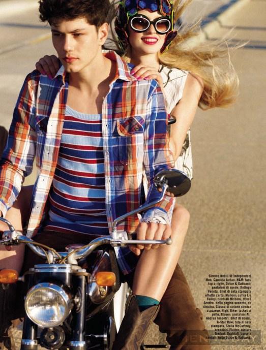 Chàng cá tính trên tạp chí Vogue Italia tự tin