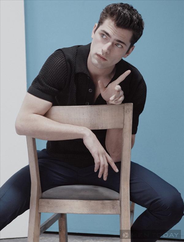 Nam mẫu Sean O'Pry đơn giản trên Elle Man Mexico