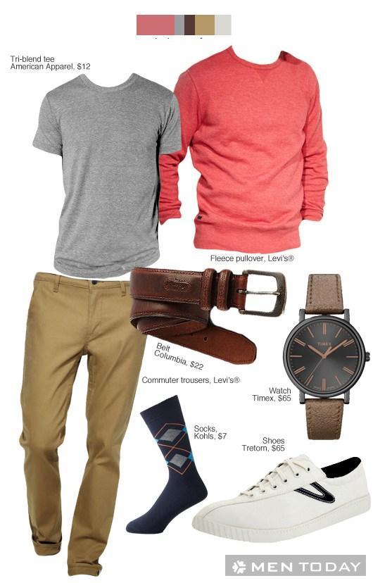 Những bộ đồ cho các chàng dã ngoại ngày thu cuối tuần thoải mái