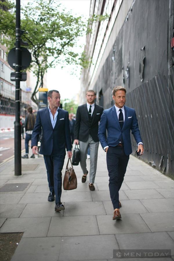 Phong cách bụi của các quý ông bên lề Tuần lễ thời trang London