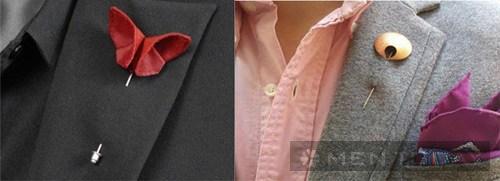 Phụ kiện ghim cài áo vần thiết cho anh chàng đỏm dáng