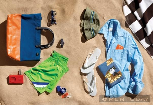 Trang phục đi biển cho chàng mùa hè thoải mái