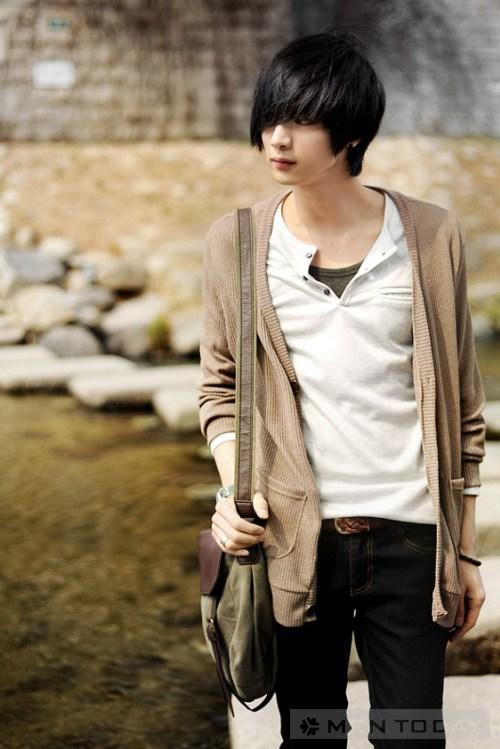Áo khoác cardigan nam đẹp phong cách cho chàng