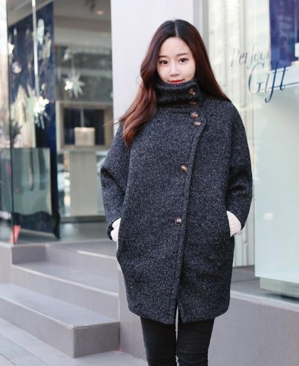 Áo khoác dạ nữ dáng suông đẹp công sở thanh lịch