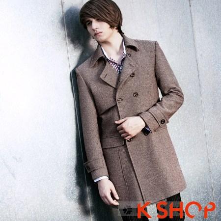 Áo khoác nam măng tô đẹp thu đông ấm áp lịch lãm