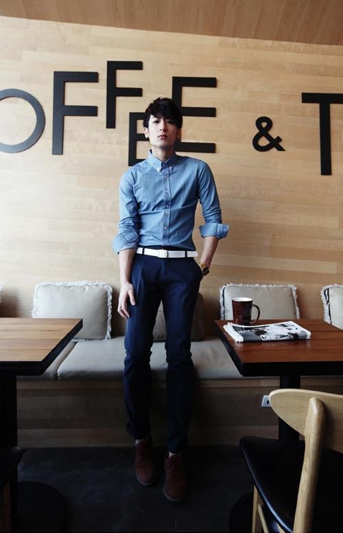 Áo sơ mi nam denim thời trang nổi bật cho teenboy