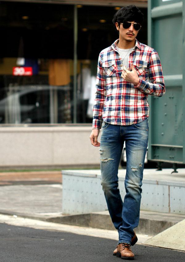 Áo sơ mi nam kẻ ca-rô phong cách Hàn cho chàng thêm trẻ trung