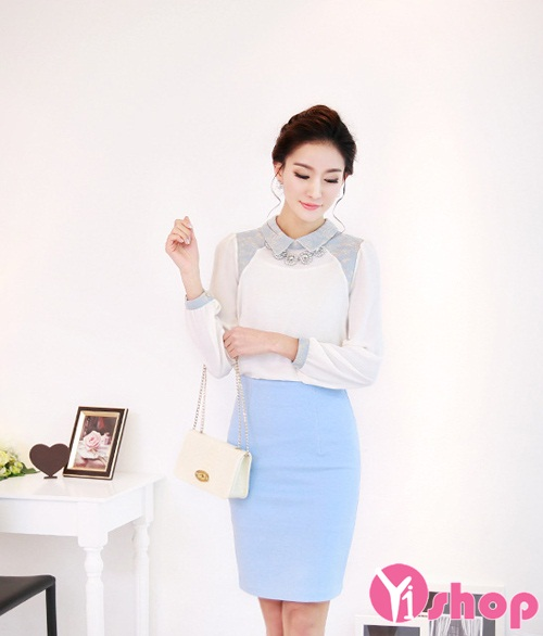Áo sơ mi nữ đẹp phong cách Hàn Quốc cho nàng công sở thanh lịch