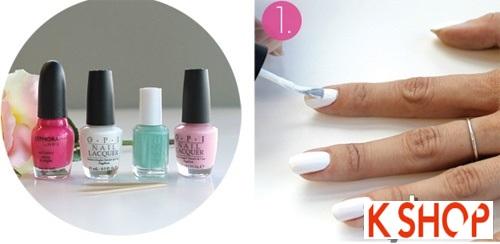Cách vẽ nail móng tay đẹp hình hoa hồng dễ thương tự tin