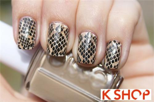 Cách vẽ nail móng tay vẩy rắn đẹp đơn giản cho bạn gái tự tin