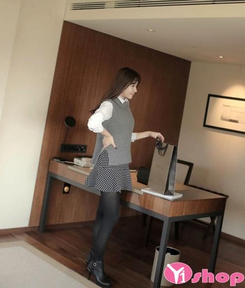 Chân váy đầm ngắn đẹp hàn quốc họa tiết nổi bật xinh xắn