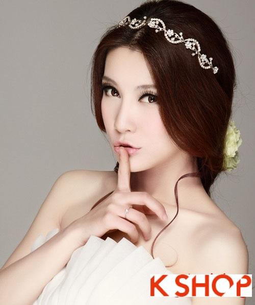 Kiểu tóc cô dâu đẹp mang phong cách Hàn Quốc tươi trẻ cá tính