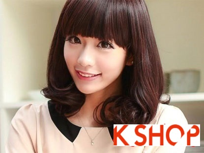 Kiểu tóc ngắn ngang vai uốn xoăn Hàn Quốc đầy quyến rũ độc đáo