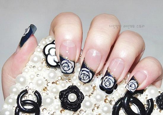 Mẫu móng tay nail hoa hồng đẹp dễ thương cho nàng ngọt ngào