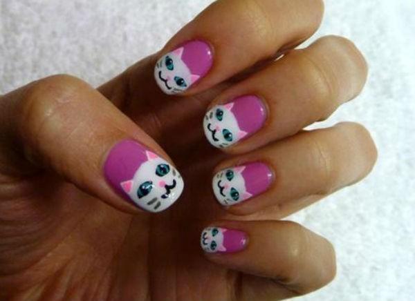 Mẫu nail hình con vật đáng yêu cho cô nàng tuổi teen