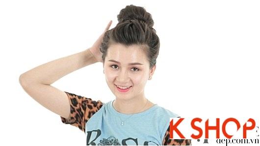 Những Kiểu búi tóc cao đẹp đơn giản dễ làm cho cô nàng dễ thương
