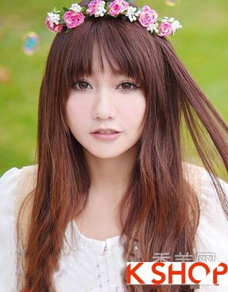 Những kiểu tóc hàn quốc đẹp cho cô nàng khuôn mặt tròn mũm mĩm