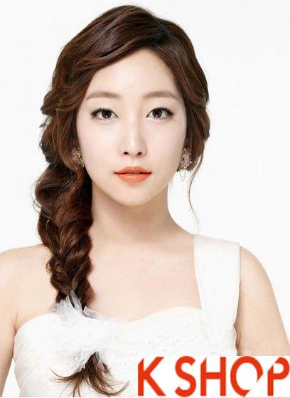 Những kiểu tóc tết cô dâu đẹp các sao Hàn Quốc