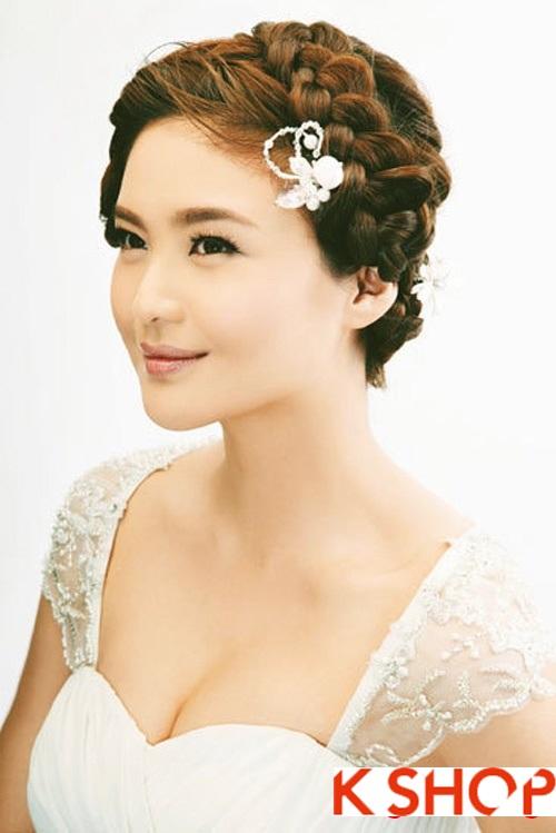 Những kiểu tóc tết cô dâu Hàn Quốc sang trọng thanh lịch