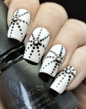 Những mẫu nail móng tay chấm bi đẹp dễ thương