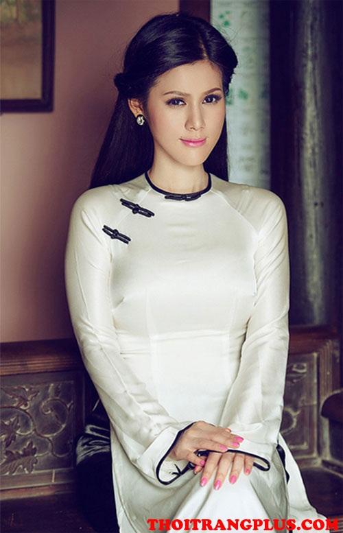 Tóc cô dâu phù hợp với áo dài cưới truyền thống Việt Nam cá tính