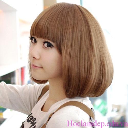 Tóc ngắn duỗi cúp phồng đẹp kiểu Hàn Quốc cho nàng tự tin