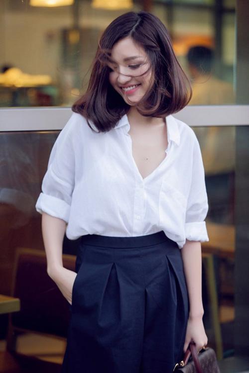 Tóc ngắn ngang vai đẹp của sao Việt mới nhất tự tin