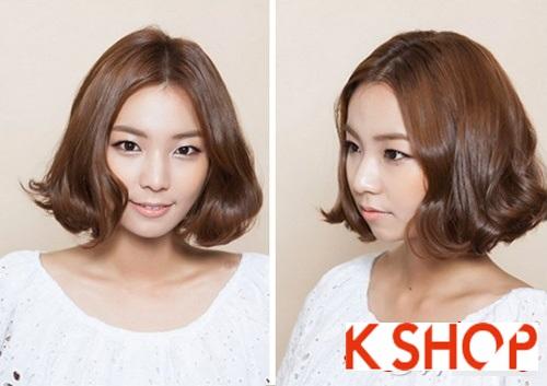 Tóc uốn bob ngắn ngang vai Hàn Quốc cho cô nàng quyến rũ tự tin