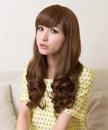 Tóc uốn xoăn dài đuôi lọn to Hàn Quốc cho cô nàng xinh xắn tươi tắn