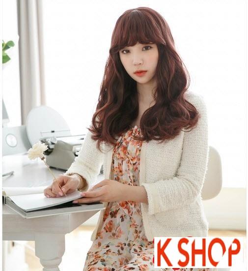 Tóc xoăn dài Hàn Quốc dễ thương cho cô nàng dạo phố