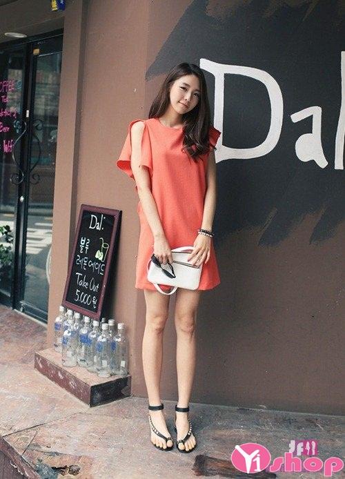 Váy đầm dáng suông đẹp hàn quốc thời trang cá tính mạnh mẽ