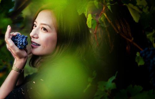 Hình ảnh vườn nho xanh tốt của Triệu Vy