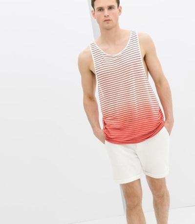 Áo tanktop nam cho chàng thích thời trang Zara