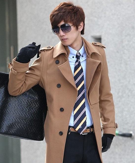 Áo khoác dạ nam Hàn Quốc cho chàng 'chuẩn men'