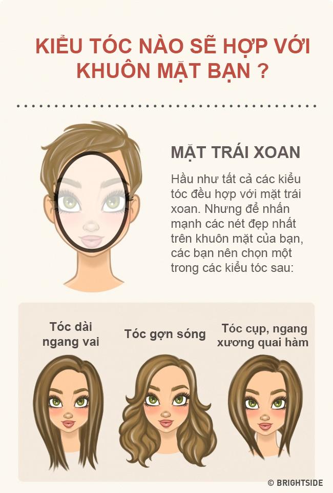Chọn kiểu tóc phù hợp với khuôn mặt