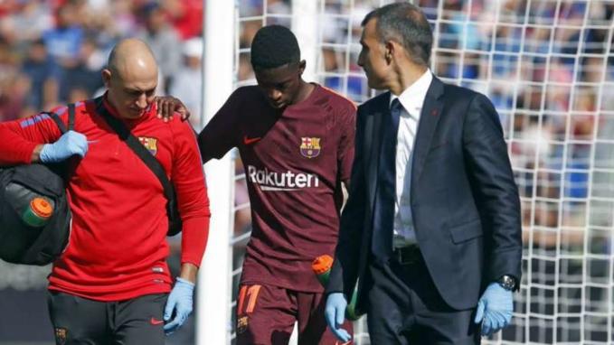 Sốc: Ousmane Dembele nghỉ hết năm vì chấn thương