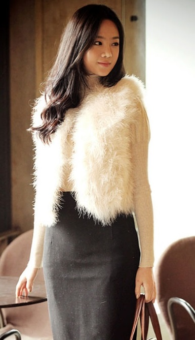 Áo khoác lông nữ đẹp quý phái nơi công sở