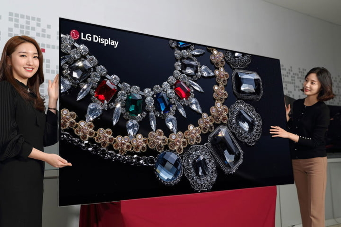 LG thành công phát triển hai TV OLED 'khủng' độ phân giải 8K