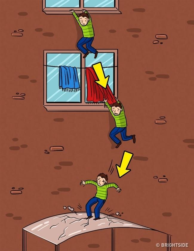 Những cách sinh tồn khi bị rơi từ trên cao