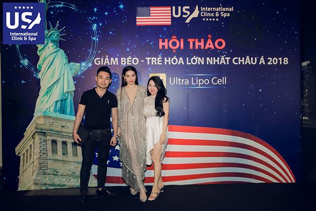 Ca sĩ Hà Hồ , Thu Phương gây chú ý tại sự kiện của US International.