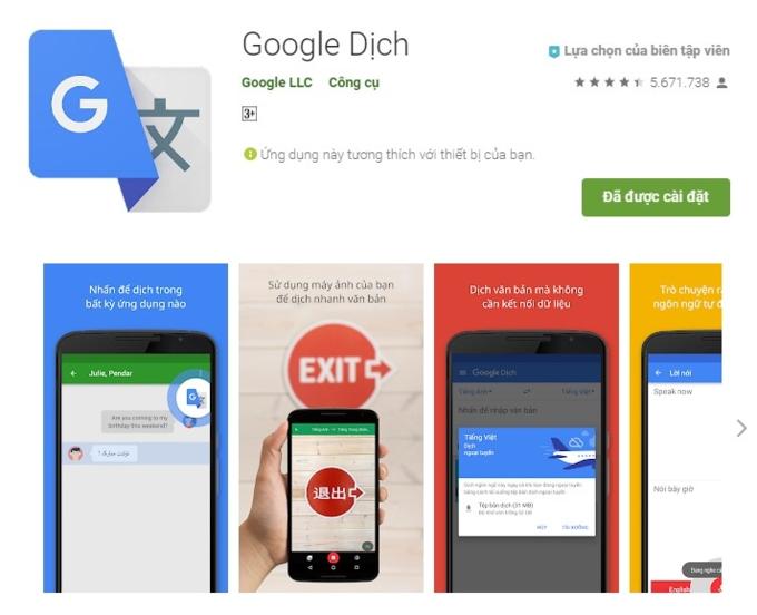 Google đưa AI dịch thuật lên iOS, Android