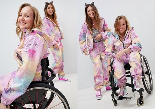 Lạ lẫm, người khuyết tật xuất hiện trong quảng bá thời trang