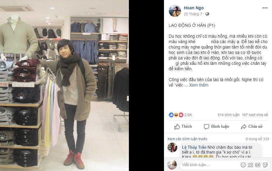 """Soái ca viết """"tiểu thuyết du học Hàn Quốc"""" gây sốt MXH"""